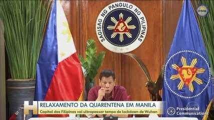 Capital das Filipinas vai ter quarentena flexibilizada a partir de segunda-feira