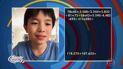 'Pequenos Gênios': Ryuju Okada impressiona com conhecimentos em matemática