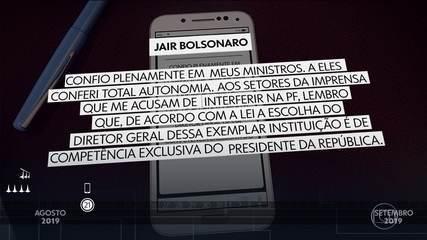 Bolsonaro demonstrou insatisfação com a PF em pelo menos 10 ocasiões desde agosto de 2019