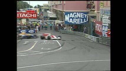 Senna resiste à pressão de Mansell e vence GP de Mônaco de 1992 - Imagens: FOM