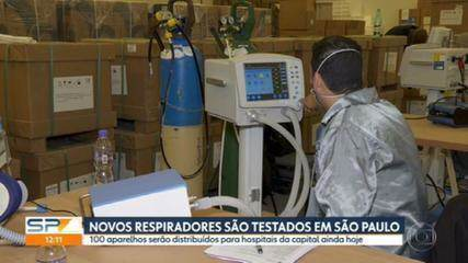 Respiradores comprados da China e Turquia são testados