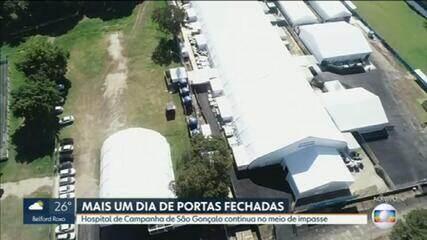 Hospital de campanha de São Gonçalo ainda não tem data de inauguração