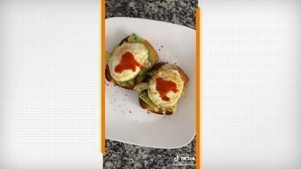 Compilação de vídeos do Tik Tok com cafés da manhã com ovos