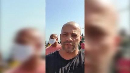Policial Militar diz ao deputado Daniel Silveira que mandou amigos queimarem faixa