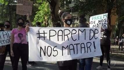 Protesto contra operações violentas em favelas é feita em frente à sede do governo do RJ