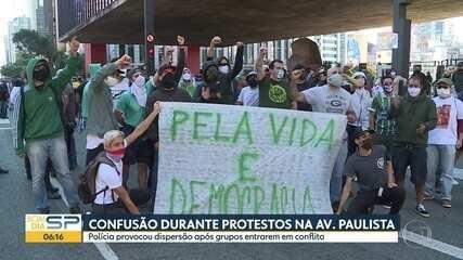 Confusão durante protesto na Av. Paulista