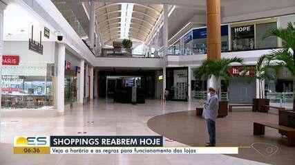 Shoppings reabrem nesta segunda-feira no ES