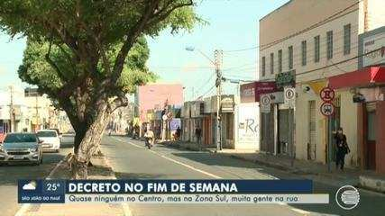 Teresina teve terceiro fim de semana com decreto de isolamento mais rígido