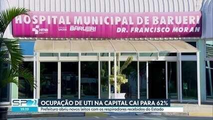 Taxa de ocupação dos leitos da capital cai para 62%