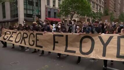 Protestos nos EUA continuam e toque de recolher em NY é antecipado