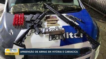 Fuzil, submetralhadora e escopeta são apreendidos em Cariacica