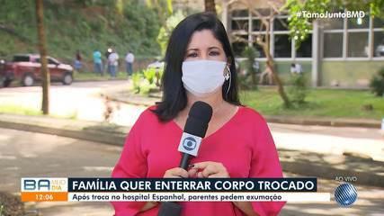 Familiares de vítima da Covid-19 acusam Hospital Espanhol de trocar corpos dos mortos
