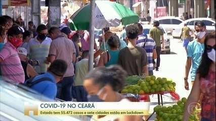 Mesmo com lockdown, circulação de pessoas nas ruas é grande no Ceará