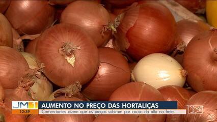 Aumento no preço do frete é a explicação para a alta no preço das frutas e hortaliças