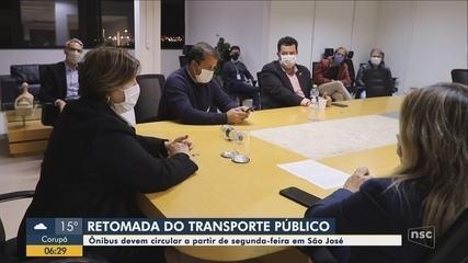 Transporte coletivo de São José deve voltar a partir de 8 de junho