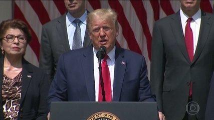 Trump cita Brasil como exemplo de país com dificuldades para lidar com a pandemia