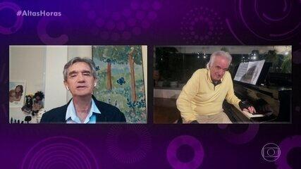 Maestro João Carlos Martins estuda piano sete horas por dia durante quarentena