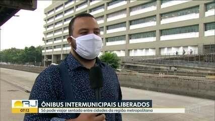 Passageiros devem viajar sentados e com máscaras em ônibus intermunicipais