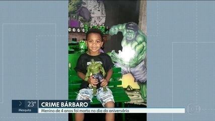 Menino de 4 anos é assassinado no dia do aniversário em Magé