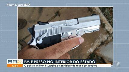 PM é preso suspeito de participação em roubo na cidade de Igaporã, interior da Bahia