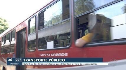 Detalhes das irregularidades do transporte coletivo que dificultam a vida dos passageiros
