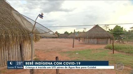 Bebê indígena com coronavírus é transferido para Cuiabá