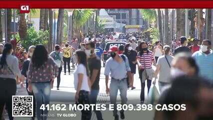 Brasil tem 41.162 mortes por Covid, aponta consórcio de veículos de imprensa