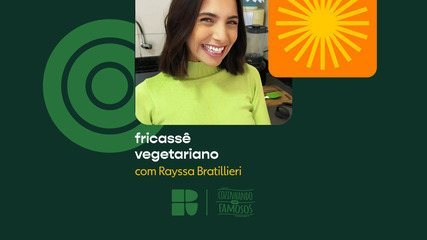 Rayssa Bratillieri faz receita de fricassê vegetáriano