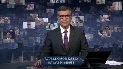 Total de vítimas da Covid-19 no Brasil é de 41.828, diz boletim do Ministério da Saúde