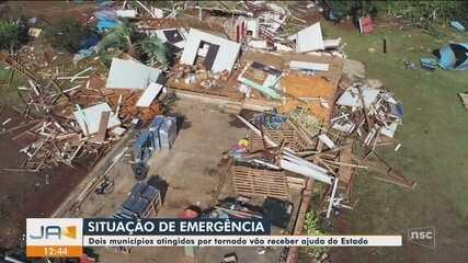Após tornado, municípios declaram situação de emergência no Oeste de SC