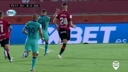 Os gols de Mallorca 0 x 4 Barcelona pela 28ª rodada do Espanhol