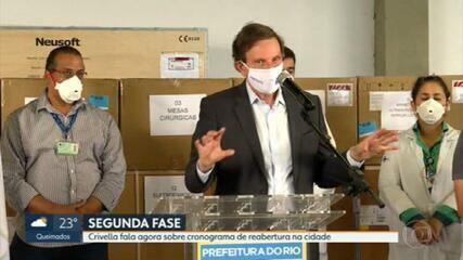 Prefeito Marcelo Crivella fala sobre segunda fase de reabertura na cidade