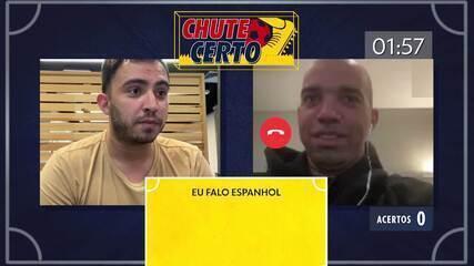 Chute Certo: Diego Tardelli participa de jogo de perguntas e desafia colega de Atlético-MG