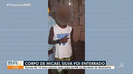 Micael Silva, de 12 anos, foi enterrado na manhã desta quarta-feira, em Plataforma