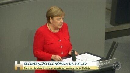 Líderes da UE se reúnem nesta sexta (19) para discutir pacote de recuperação da economia
