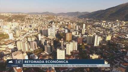 Poços de Caldas inicia 1ª fase de plano de retomada econômica da cidade