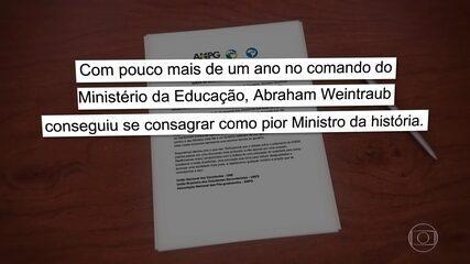 Saída de Weintraub repercute entre políticos e entidades ligadas à educação