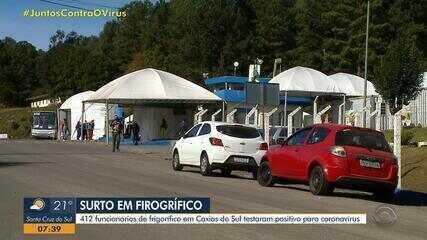 Frigorífico de Caxias do Sul tem surto de coronavírus com 412 funcionários positivos