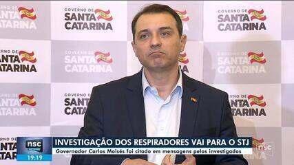Governador de SC foi citado em mensagens pelos investigados da polêmica dos respiradores