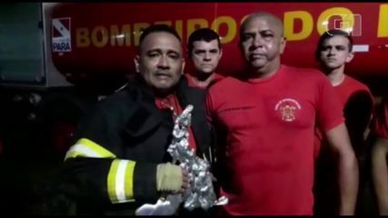 Agente dos Bombeiros presencia acidente na rodovia PA-275, no Pará, e salva amigo.