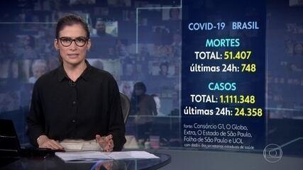 Número de mortos pela Covid-19 no Brasil chega a 51.407, segundo consórcio da imprensa