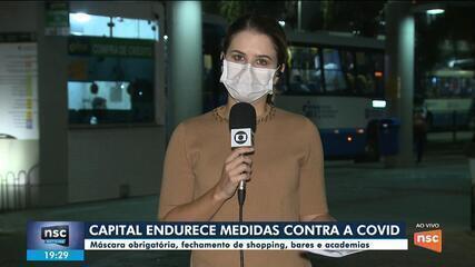 Casos de Covid-19 crescem e Florianópolis endurece regras; veja mudanças