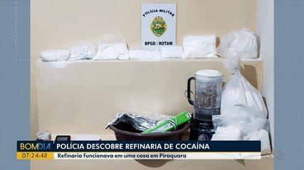 Polícia descobre refinaria de cocaína
