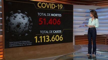 Brasil tem mais de 51 mil mortes pela Covid-19, aponta consórcio de veículos de imprensa