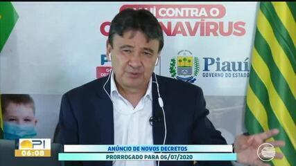 Governador prorroga decreto de isolamento até 6 de julho