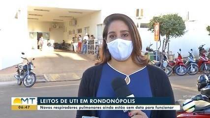 Respiradores ainda não foram instalados em UTIs de Rondonópolis