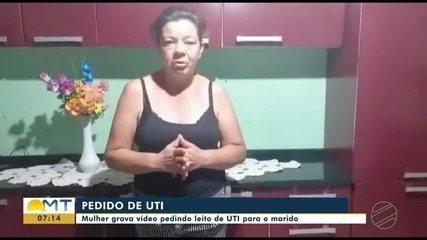 Mulher chora ao pedir leito de UTI para o marido com Covid-19