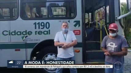 Manobrista de Petrópolis, RJ, encontra carteira com dinheiro e dá exemplo de honestidade