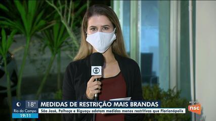 Cidades da Grande Florianópolis adotam medidas contra a Covid-19 por 14 dias