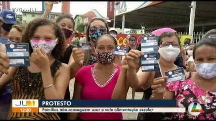 Pais de alunos no PA protestam devido aos problemas no cartão de vale alimentação